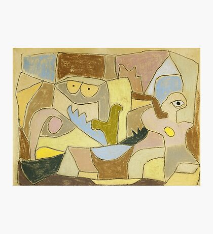 Paul Klee - True Also For Plants. Abstract painting: abstract art, geometric, expressionism, composition, lines, forms, creative fusion, spot, shape, illusion, fantasy future Photographic Print