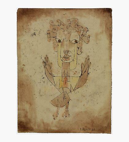 Paul Klee - Angelus Novus. Abstract painting: abstract art, geometric, Angelus,  Novus, lines, forms, creative fusion, spot, shape, illusion, fantasy future Photographic Print