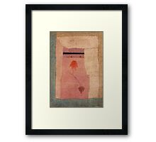 Paul Klee - Arabian Song. Abstract painting: abstract art, geometric, Arabian ,  Song, lines, forms, creative fusion, spot, shape, illusion, fantasy future Framed Print