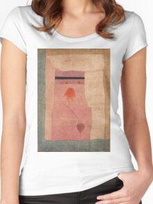 Paul Klee - Arabian Song. Abstract painting: abstract art, geometric, Arabian ,  Song, lines, forms, creative fusion, spot, shape, illusion, fantasy future Women's Fitted Scoop T-Shirt