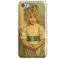 Miss Charlotte - Papendick As A Child. Child portrait: girl, curly head,  beautiful, pretty angel, child, kids, cap, dress,  bow, lovely family, childhood iPhone Case/Skin