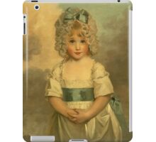 Miss Charlotte - Papendick As A Child. Child portrait: girl, curly head,  beautiful, pretty angel, child, kids, cap, dress,  bow, lovely family, childhood iPad Case/Skin