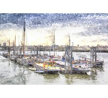 River Thames Boat Community Photographic Print