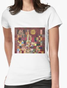 Paul Klee - Castle And Sun. Abstract painting: abstract art, geometric, Castle , composition, lines, forms, Sun, spot, shape, illusion, fantasy future Womens Fitted T-Shirt