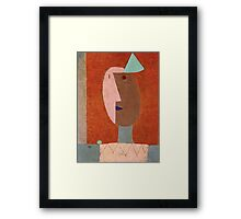 Paul Klee - Clown. Abstract painting: abstract art, geometric, expressionism, composition, lines, forms, creative fusion, spot, shape, illusion, fantasy future Framed Print