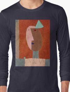 Paul Klee - Clown. Abstract painting: abstract art, geometric, expressionism, composition, lines, forms, creative fusion, spot, shape, illusion, fantasy future Long Sleeve T-Shirt