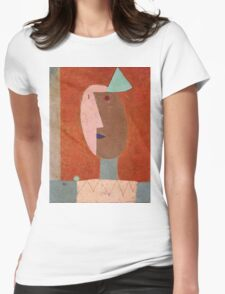 Paul Klee - Clown. Abstract painting: abstract art, geometric, expressionism, composition, lines, forms, creative fusion, spot, shape, illusion, fantasy future Womens Fitted T-Shirt