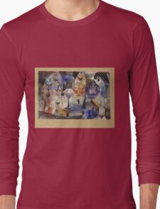 Paul Klee - Concentrierter Roman. Abstract painting: abstract art, geometric, Magic , composition, woman, man, people, spot, shape, illusion, fantasy future Long Sleeve T-Shirt