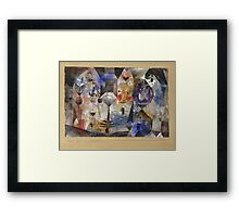 Paul Klee - Concentrierter Roman. Abstract painting: abstract art, geometric, Magic , composition, woman, man, people, spot, shape, illusion, fantasy future Framed Print