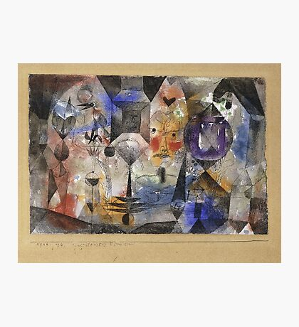 Paul Klee - Concentrierter Roman. Abstract painting: abstract art, geometric, Magic , composition, woman, man, people, spot, shape, illusion, fantasy future Photographic Print