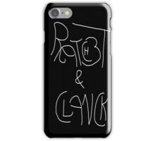 Ratchet and Clan white on black iPhone Case/Skin