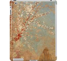 Odilon Redon - Figure Under A Blossoming Tree 1904. Garden landscape: garden view, trees and flowers, blossom, woman, dream, floral flora, wonderful flowers, think, meditation, relaxation, rest iPad Case/Skin