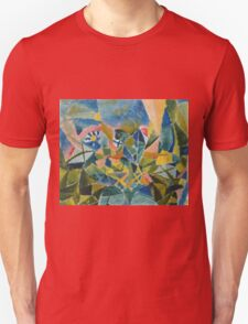 Paul Klee - Flower Bed. Abstract painting: abstract art, geometric, Flower,  Bed, lines, forms, creative fusion, spot, shape, illusion, fantasy future Unisex T-Shirt
