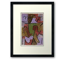 Paul Klee - Indianisch. Abstract painting: abstract art, geometric, expressionism, composition, lines, forms, creative fusion, spot, shape, illusion, fantasy future Framed Print