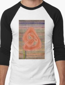 Paul Klee - Lonely Flower. Abstract painting: abstract art, geometric, Lonely ,  Flower, lines, forms, creative fusion, spot, shape, illusion, fantasy future Men's Baseball ¾ T-Shirt