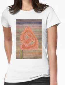 Paul Klee - Lonely Flower. Abstract painting: abstract art, geometric, Lonely ,  Flower, lines, forms, creative fusion, spot, shape, illusion, fantasy future Womens Fitted T-Shirt