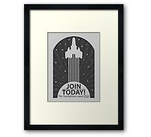 Join Today! Framed Print