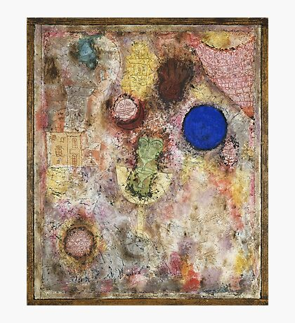 Paul Klee - Magic Garden. Abstract painting: abstract art, geometric, Garden, Magic , lines, forms, creative fusion, spot, shape, illusion, fantasy future Photographic Print