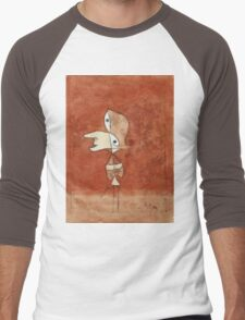 Paul Klee - Portrait Of Brigitte. Abstract painting: abstract art, geometric, bird, woman, lines, forms,  Figure, spot, shape, illusion, fantasy future Men's Baseball ¾ T-Shirt