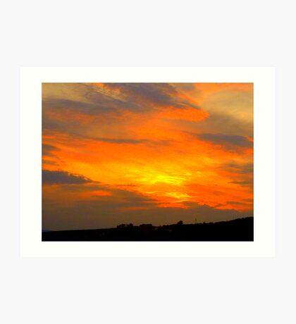Inch Island Sunset Art Print