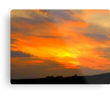 Inch Island Sunset Metal Print