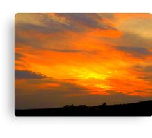 Inch Island Sunset Canvas Print