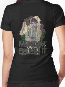 Monday bullshit series Women's Fitted V-Neck T-Shirt
