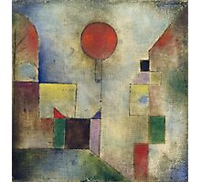 Paul Klee - Red Balloon. Abstract painting: abstract art, geometric, Balloon, composition, lines, forms, creative fusion, spot, shape, illusion, fantasy future Photographic Print