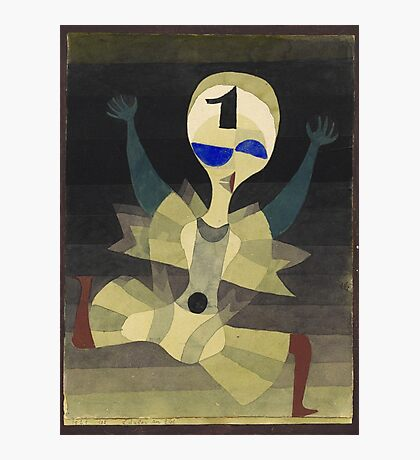 Paul Klee - Runner At The Goal. Abstract painting: abstract art, geometric, Runner , composition, lines, forms, creative fusion, spot, shape, illusion, fantasy future Photographic Print