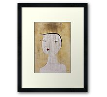 Paul Klee - Sealed Woman. Abstract painting: abstract art, geometric, Sealed,  Woman, lines, forms, creative fusion, spot, shape, illusion, fantasy future Framed Print