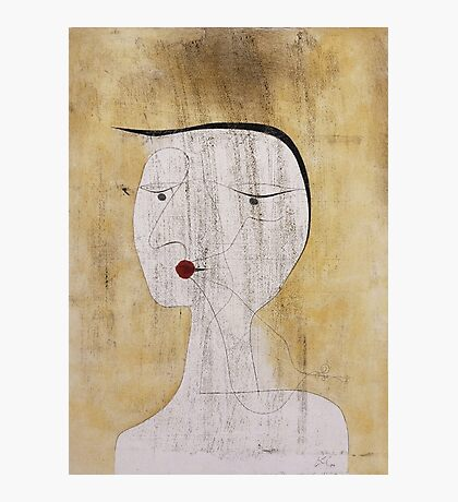 Paul Klee - Sealed Woman. Abstract painting: abstract art, geometric, Sealed,  Woman, lines, forms, creative fusion, spot, shape, illusion, fantasy future Photographic Print