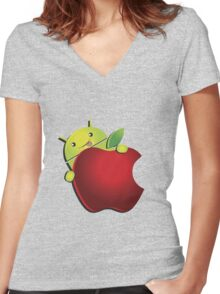 Ultimate AndroidIphone [UltraHD] Women's Fitted V-Neck T-Shirt