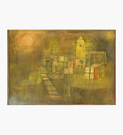 Paul Klee - Small Village In The Autumn Sun. Abstract painting: abstract art, geometric,  Village, Autumn, lines, forms, Sun, spot, shape, illusion, fantasy future Photographic Print