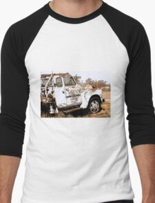 Route 66 Tow Truck Men's Baseball ¾ T-Shirt