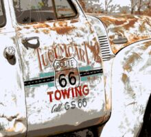 Route 66 Tow Truck Sticker