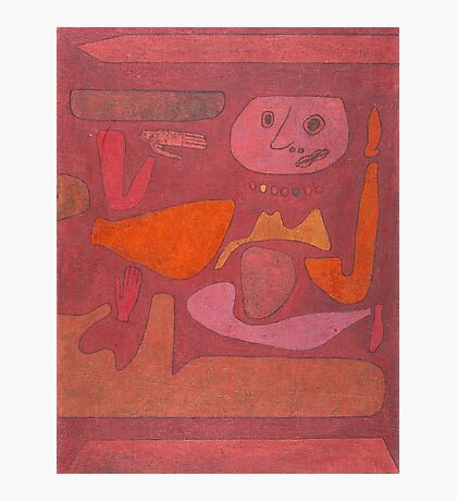 Paul Klee - The Man Of Confusion. Abstract painting: abstract art, geometric,  Man , Confusion, lines, forms, creative fusion, spot, shape, illusion, fantasy future Photographic Print