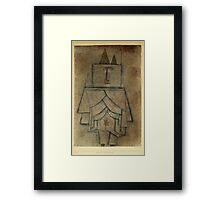 Paul Klee - Torwachterstolz. Abstract painting: abstract art, geometric,  Man , composition, lines, forms, creative fusion, spot, shape, illusion, fantasy future Framed Print