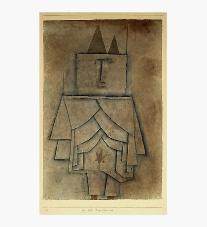 Paul Klee - Torwachterstolz. Abstract painting: abstract art, geometric,  Man , composition, lines, forms, creative fusion, spot, shape, illusion, fantasy future Photographic Print