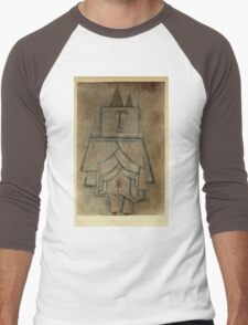 Paul Klee - Torwachterstolz. Abstract painting: abstract art, geometric,  Man , composition, lines, forms, creative fusion, spot, shape, illusion, fantasy future Men's Baseball ¾ T-Shirt