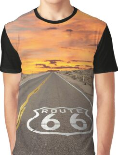 Highway Route 66 Graphic T-Shirt