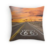 Highway Route 66 Throw Pillow