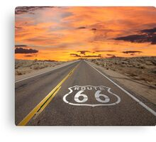 Highway Route 66 Canvas Print
