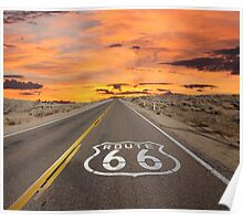 Highway Route 66 Poster