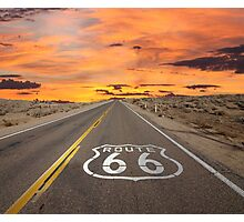 Highway Route 66 Photographic Print