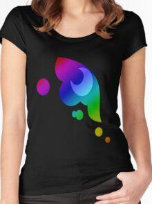 MLP - Cutie Mark Rainbow Special - Princess Luna / Nightmaremoon Women's Fitted Scoop T-Shirt