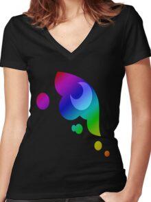 MLP - Cutie Mark Rainbow Special - Princess Luna / Nightmaremoon Women's Fitted V-Neck T-Shirt