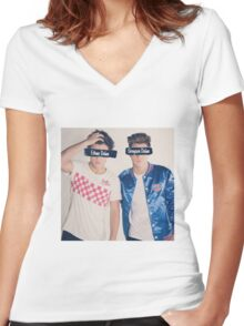 Dolan twins Women's Fitted V-Neck T-Shirt