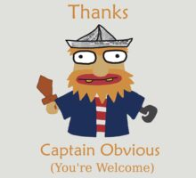 Captain Obvious (Orange) by QuentinVR