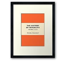 The History of Sexuality Framed Print