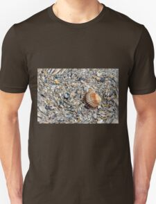 abstract shells on the beach Unisex T-Shirt